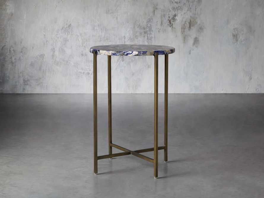 "Ludlow 15"" Royal Sodalite Martini Table, slide 1 of 4"