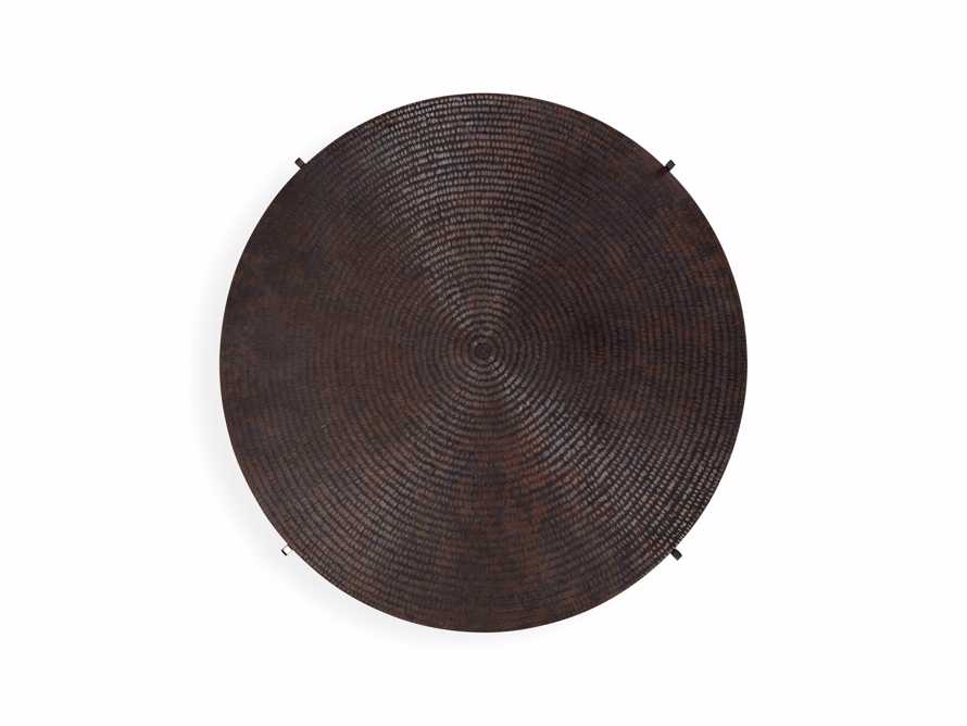 "Sanskrit 40"" Copper Coffee Table"