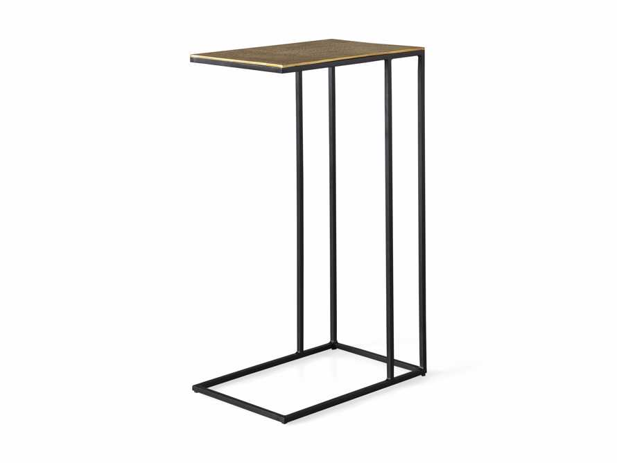 "Soma 17.75"" Aluminum and Iron C Table in Brass, slide 6 of 6"