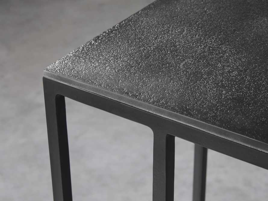 """Martini Tables 17.75"""" C Table Aluminum and Iron in Matte Black, slide 3 of 6"""