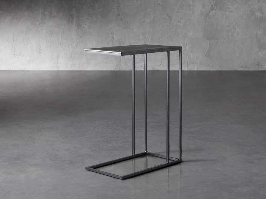 """Martini Tables 17.75"""" C Table Aluminum and Iron in Matte Black, slide 1 of 6"""