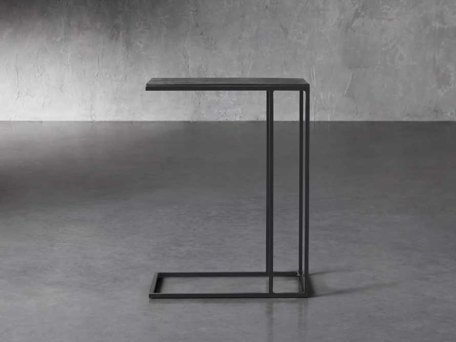 """Martini Tables 17.75"""" C Table Aluminum and Iron in Matte Black, slide 2 of 6"""
