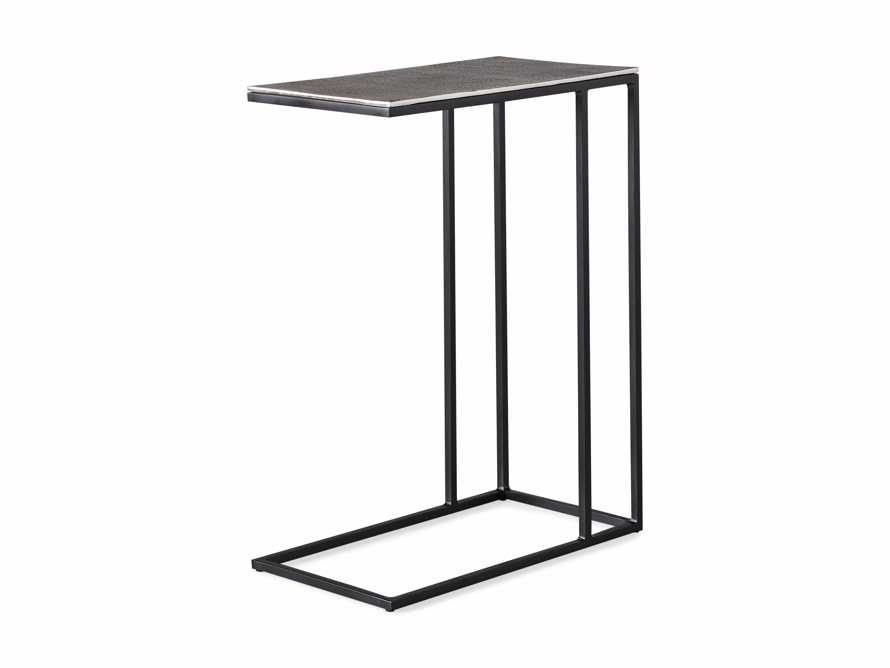 "Soma 17.75"" Aluminum and Iron C Table in Antique Silver, slide 6 of 6"
