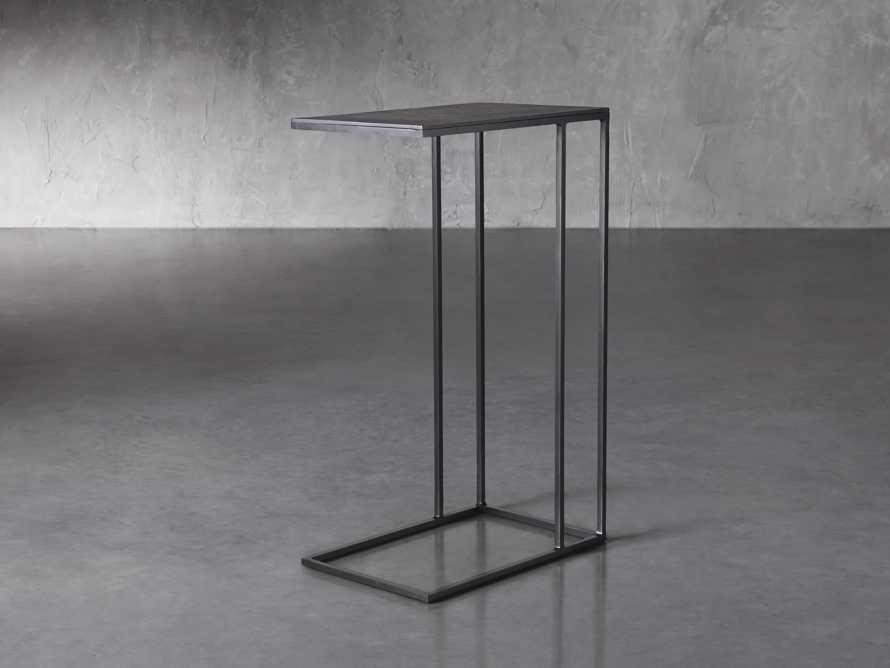Soma Tall C-Table in Matte Black, slide 1 of 6