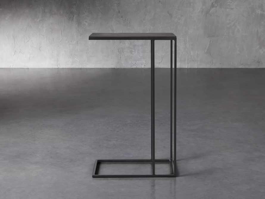 Soma Tall C-Table in Matte Black, slide 2 of 6