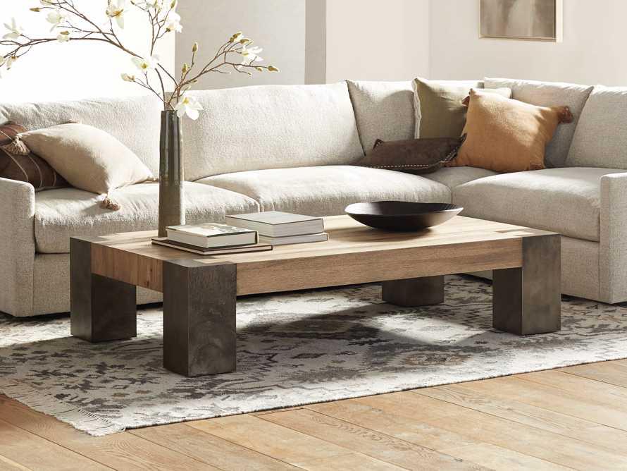 "Telluride 68"" Wood Coffee Table, slide 1 of 8"
