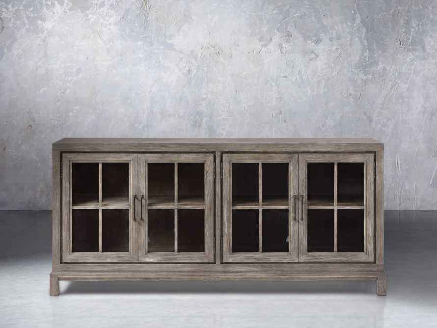 Argent Media Cabinet in Stone On Ash