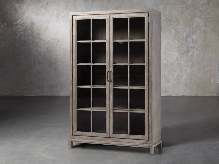 Argent Tall Cabinet in Stone On Ash