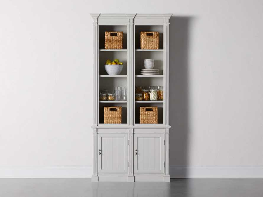 Athens Modular Double Narrow Bookcase in Nimbus, slide 1 of 6