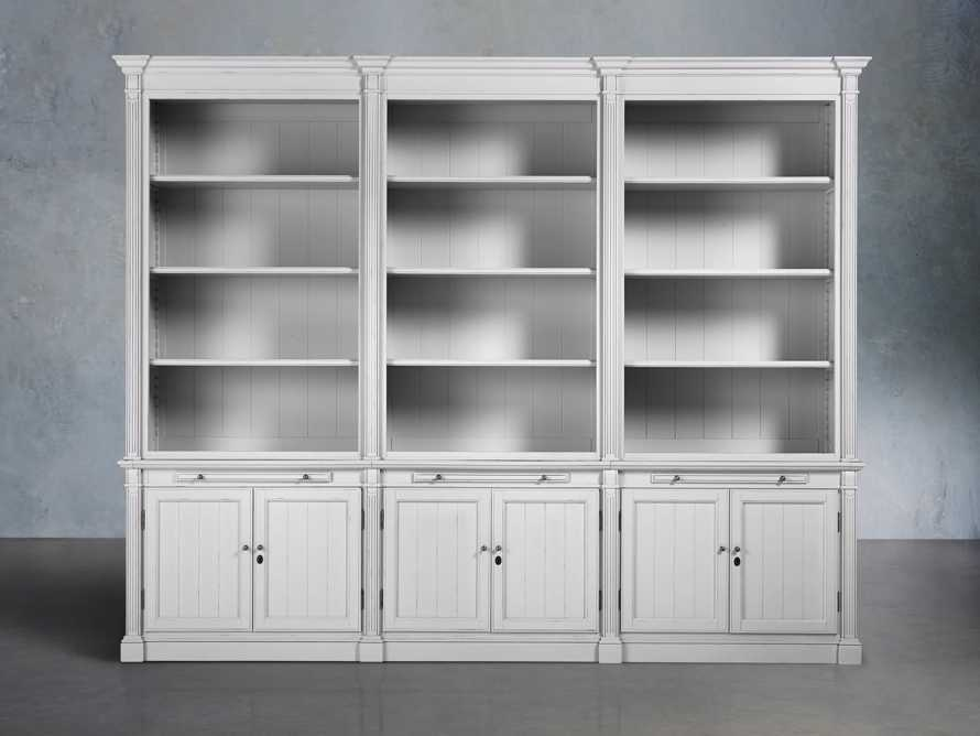 Athens Modular Triple Bookcase in Nimbus, slide 1 of 5
