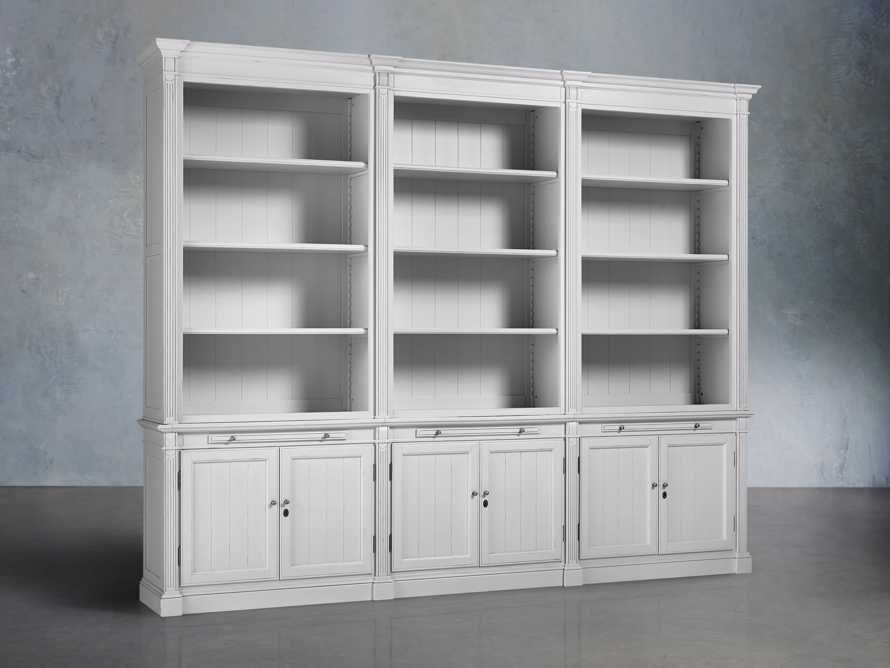 Athens Modular Triple Bookcase in Nimbus, slide 2 of 5