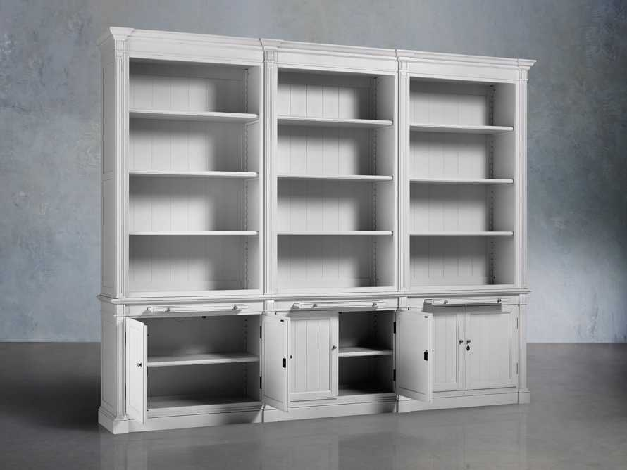 Athens Modular Triple Bookcase in Nimbus, slide 3 of 5