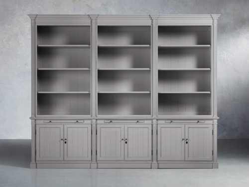 Athens Modular Double Bookcase Arhaus Furniture