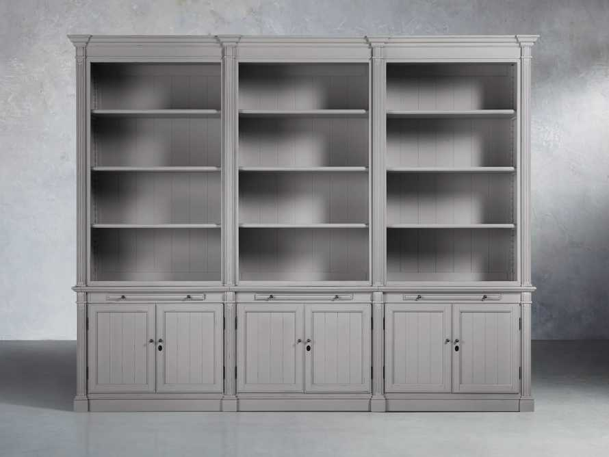Athens Modular Triple Bookcase in Stratus