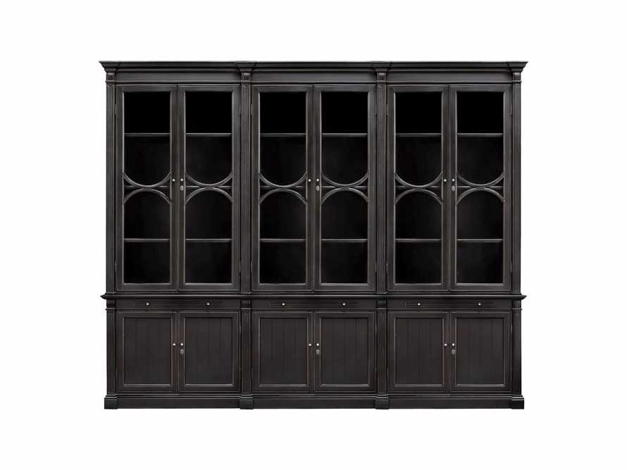 Athens Modular Triple Display Cabinet In Tuxedo Black, slide 2 of 2