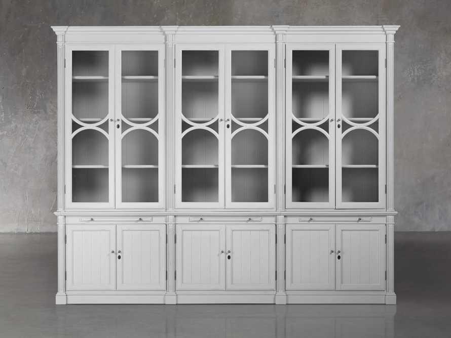 Athens Modular Triple Display Cabinet in Nimbus, slide 2 of 7