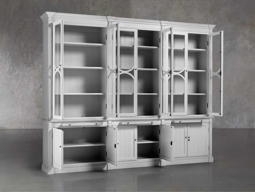 Athens Modular Triple Display Cabinet in Nimbus, slide 4 of 7