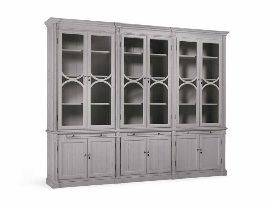 Athens Modular Triple Display Cabinet in Stratus, slide 3 of 4