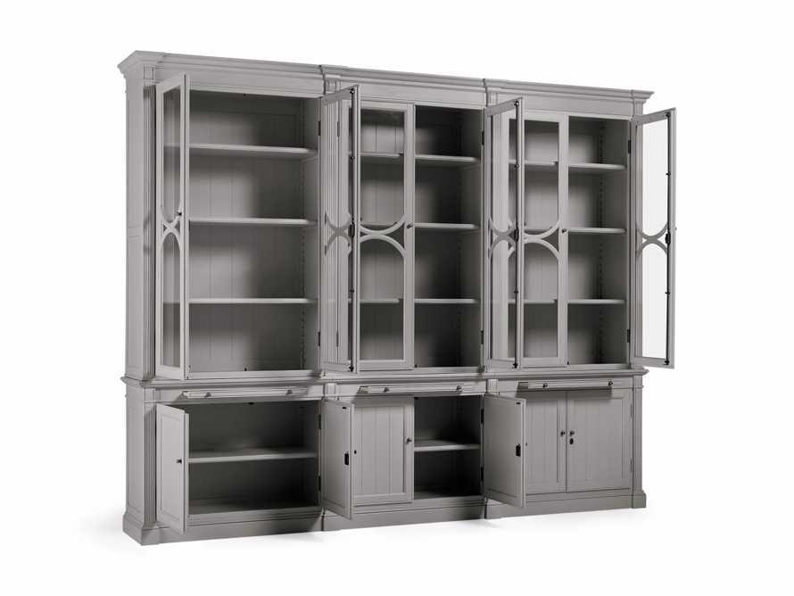 Athens Modular Triple Display Cabinet in Stratus, slide 4 of 4