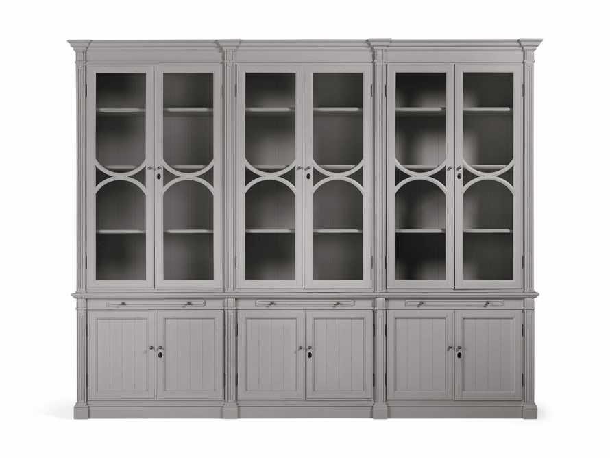 Athens Modular Triple Display Cabinet in Stratus, slide 2 of 4