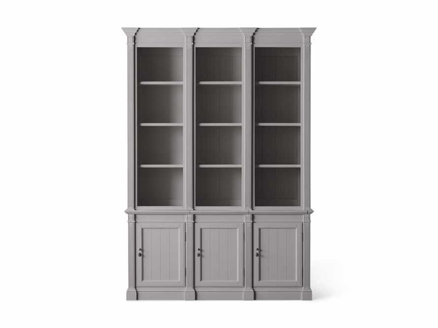 Athens Modular Triple Narrow Bookcase in Stratus, slide 5 of 6