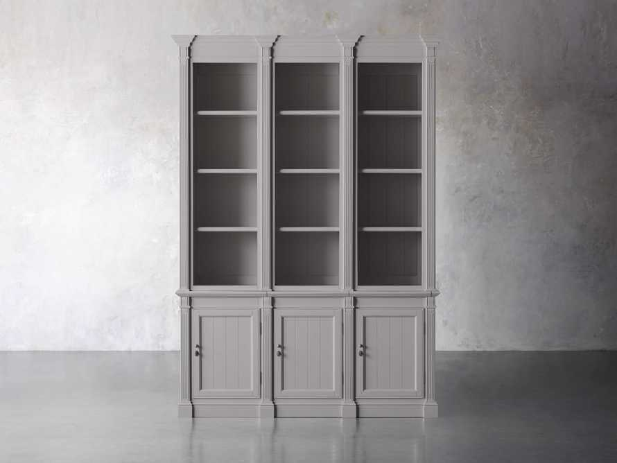 Athens Modular Triple Narrow Bookcase in Stratus, slide 1 of 6
