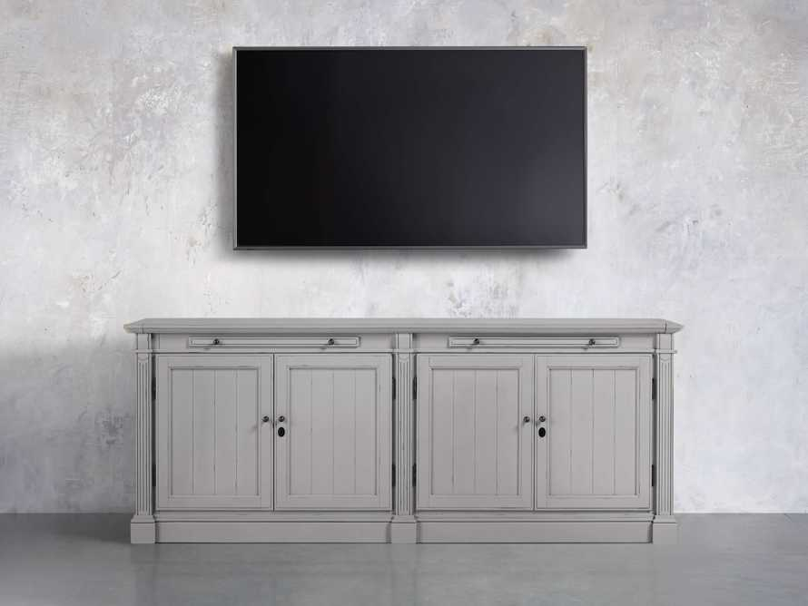 Athens Modular Four Door Media Console in Stratus