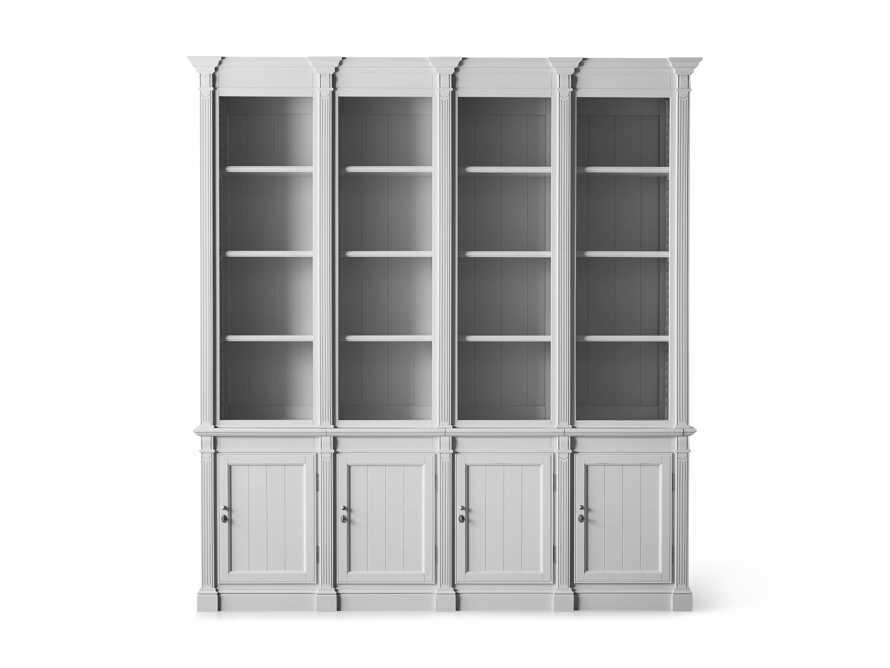 Athens Modular Quadruple Narrow Bookcase in Nimbus, slide 12 of 13