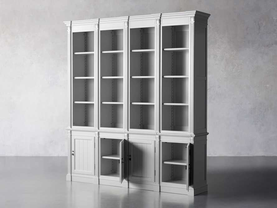 Athens Modular Quadruple Narrow Bookcase in Nimbus, slide 4 of 13