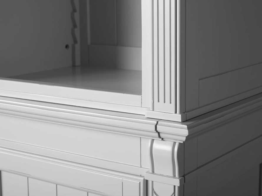 Athens Modular Quadruple Narrow Bookcase in Nimbus, slide 9 of 13