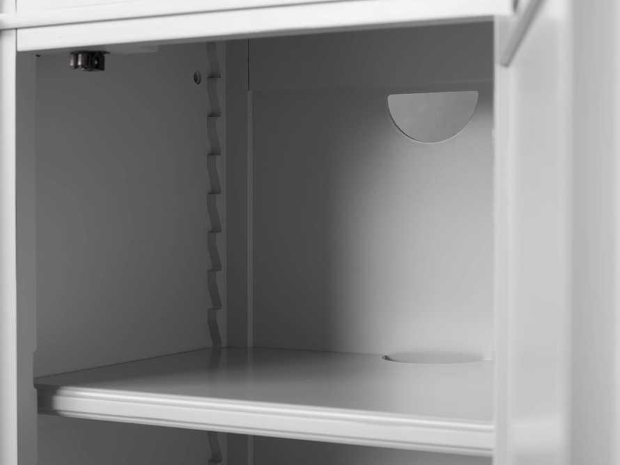 Athens Modular Quadruple Narrow Bookcase in Nimbus, slide 8 of 13