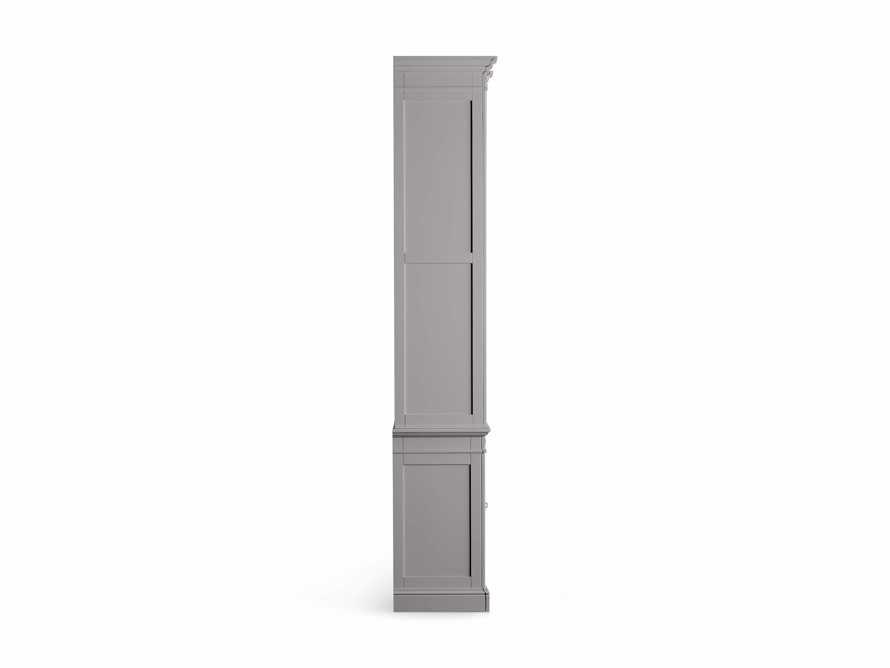 Athens Modular Quadruple Narrow Bookcase in Stratus, slide 12 of 12