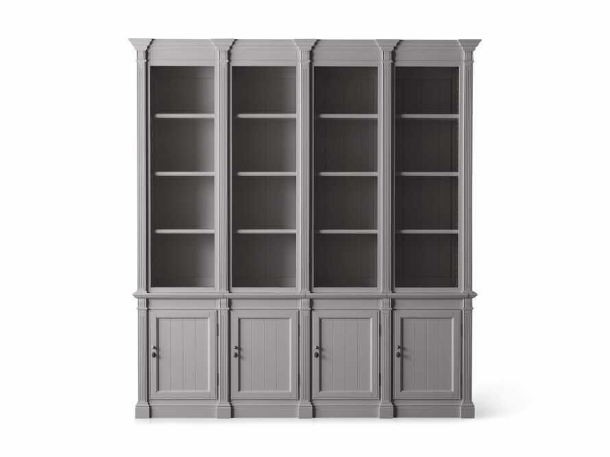 Athens Modular Quadruple Narrow Bookcase in Stratus, slide 11 of 12