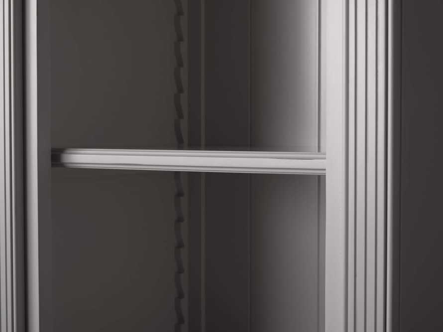 Athens Modular Quadruple Narrow Bookcase in Stratus, slide 5 of 12