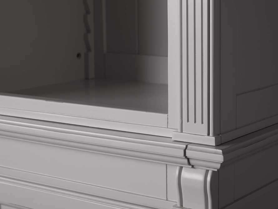 Athens Modular Quadruple Narrow Bookcase in Stratus, slide 6 of 12