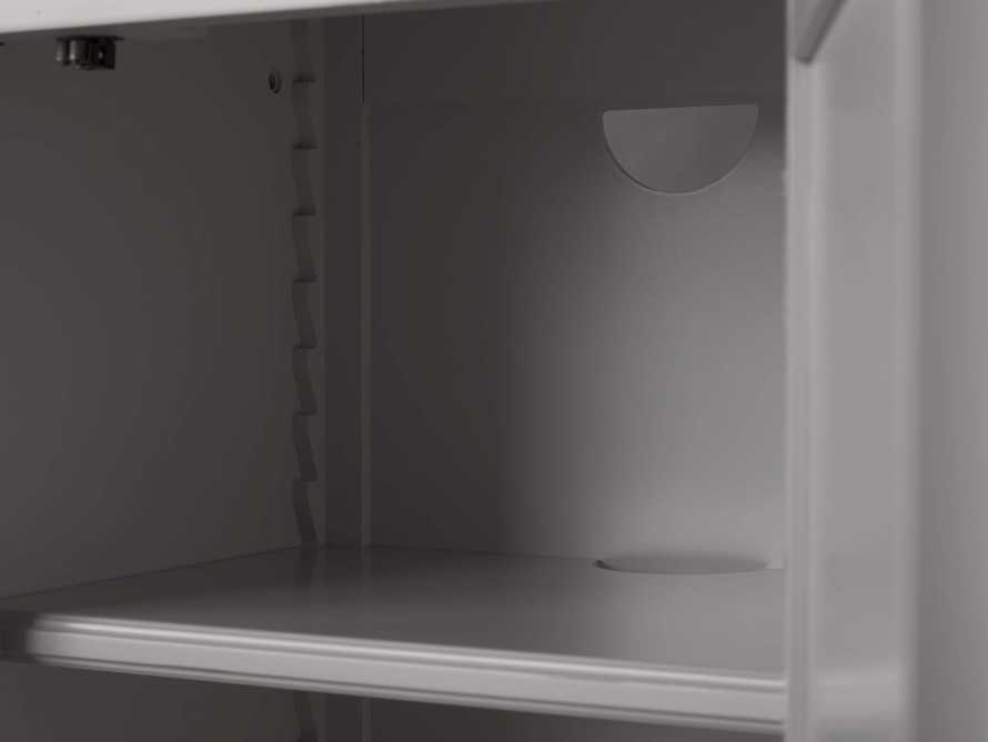 Athens Modular Quadruple Narrow Bookcase in Stratus, slide 7 of 12