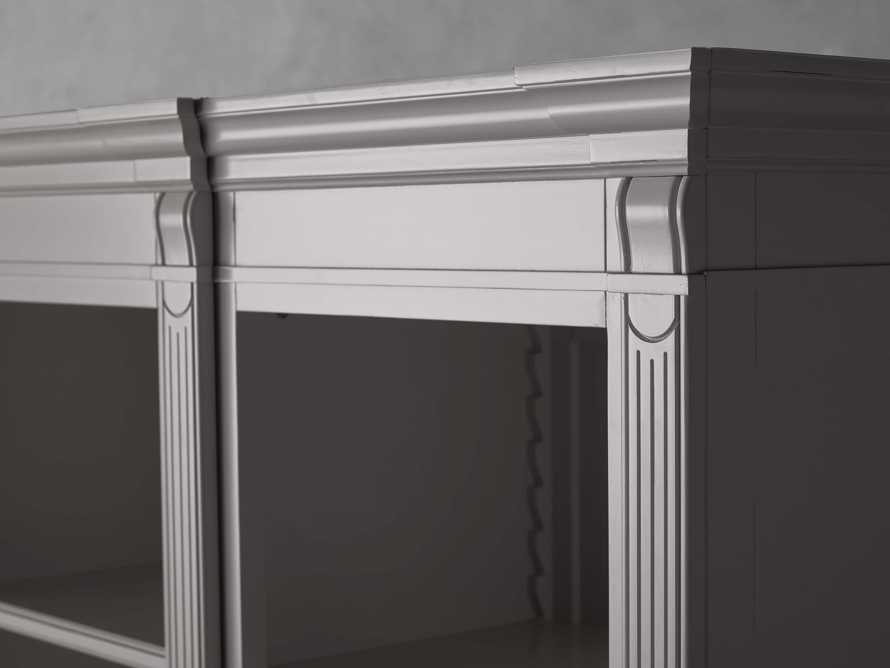 Athens Modular Quadruple Narrow Bookcase in Stratus, slide 10 of 12