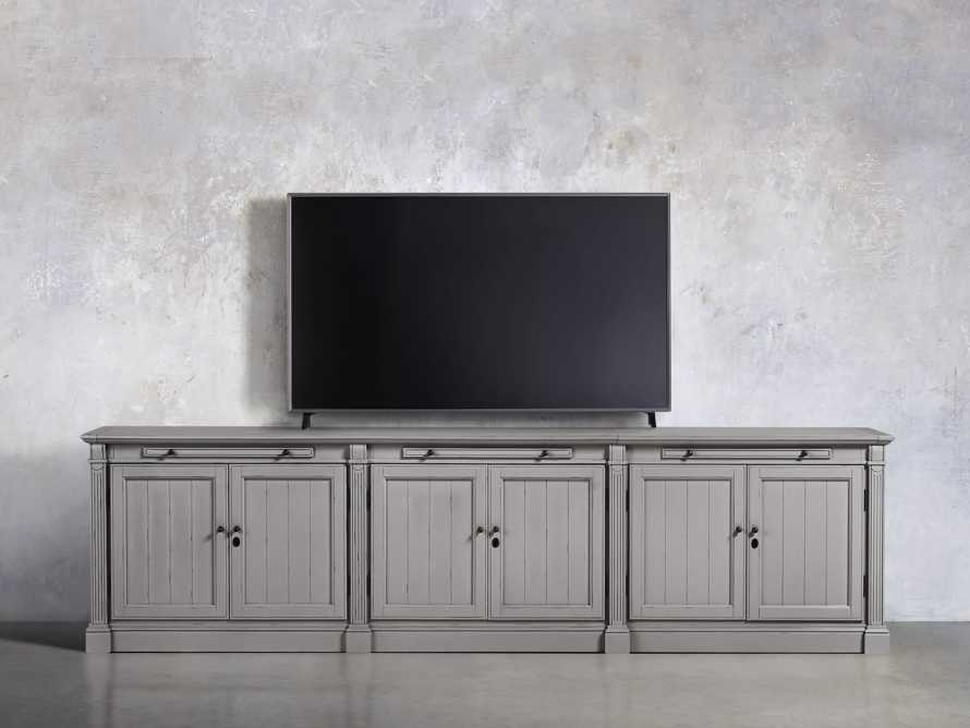 Athens Modular Six Door Media Console in Stratus, slide 5 of 5