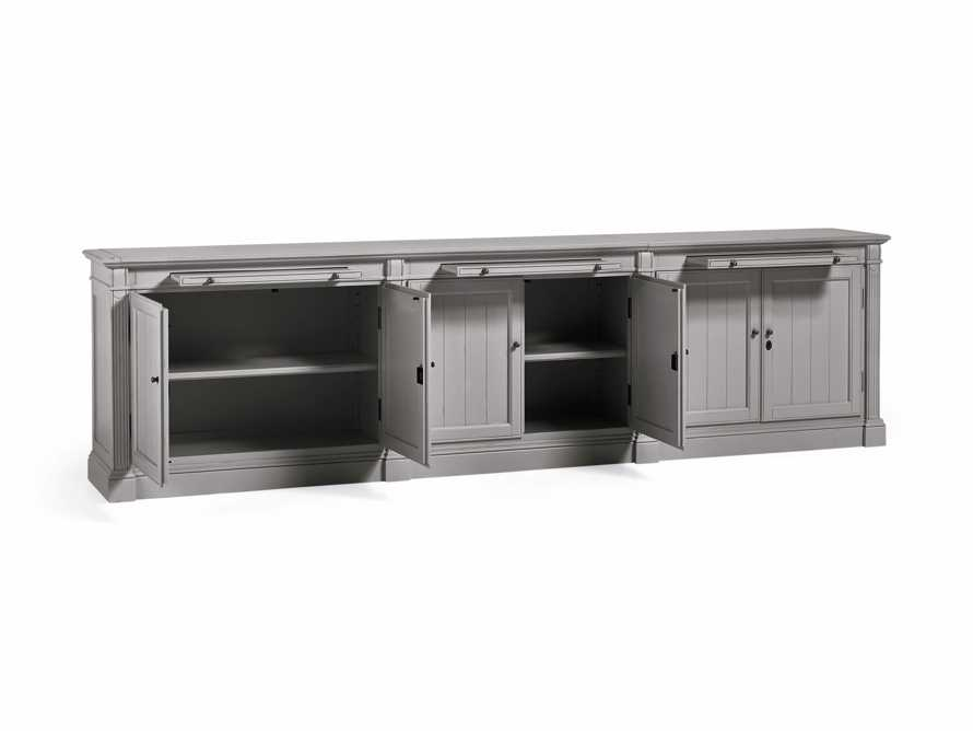 Athens Modular Six Door Media Console in Stratus, slide 4 of 5