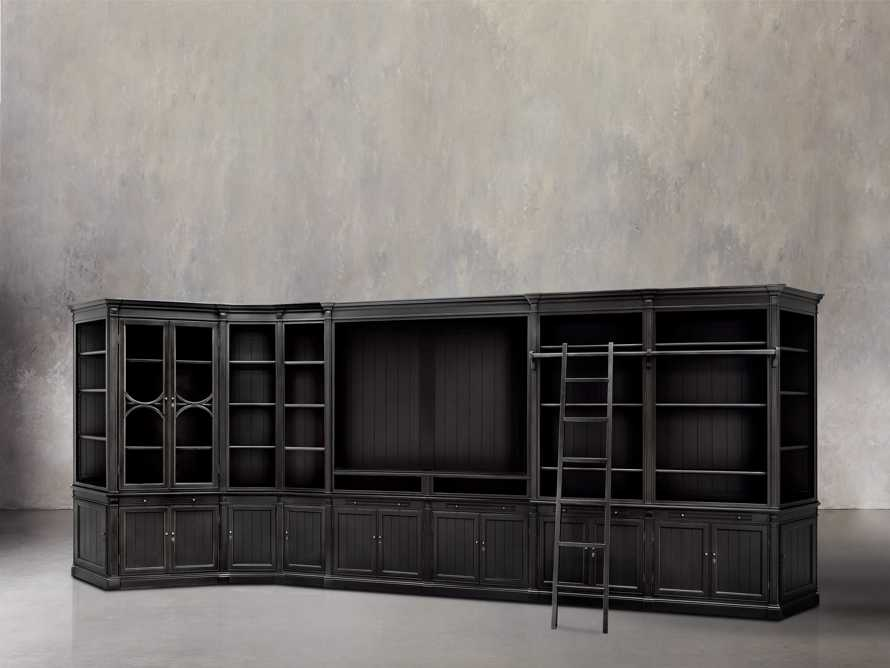 Athens Large Wall Unit In Tuxedo Black, slide 1 of 2