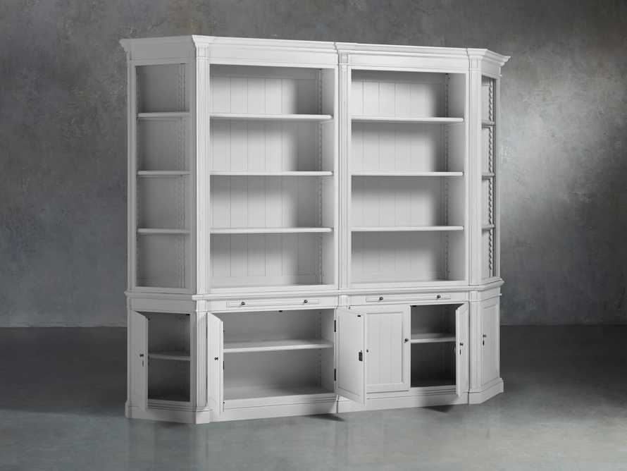 Athens Modular Double Bookcase with Angled Bookcases in Nimbus, slide 3 of 6