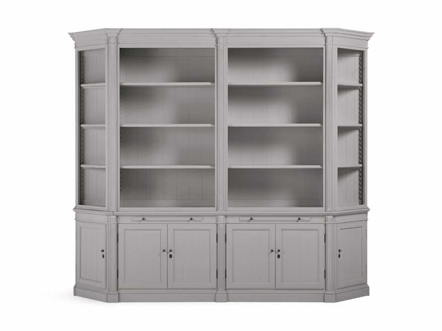 Athens Double Bookcase with Angled Bookcases in Stratus, slide 2 of 4