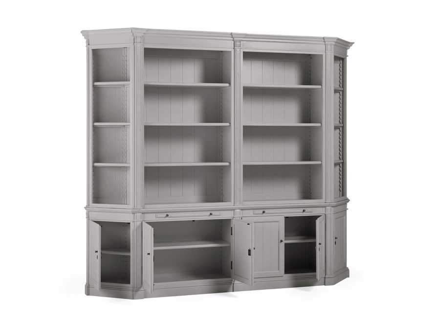 Athens Double Bookcase with Angled Bookcases in Stratus, slide 4 of 4