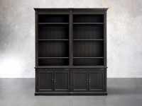 Athens Modular Double Bookcase In Tuxedo Black