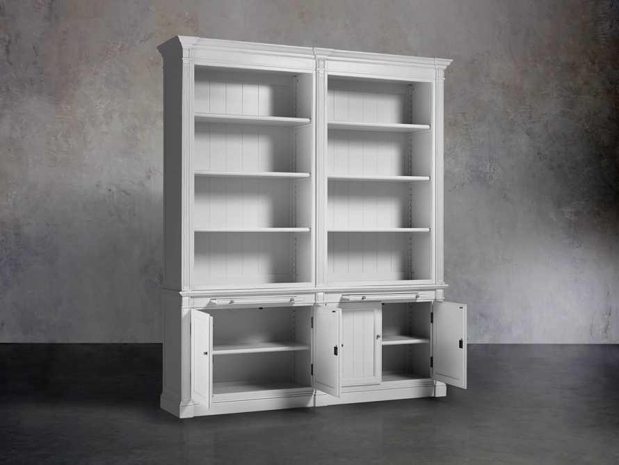 Athens Modular Double Bookcase in Nimbus, slide 3 of 4