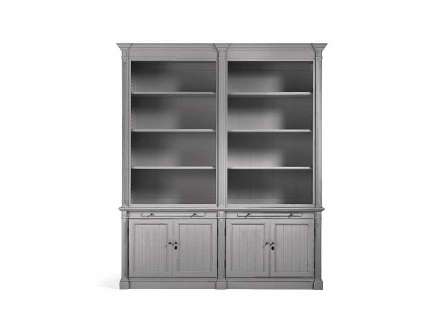 Athens Modular Double Bookcase in Stratus, slide 2 of 2