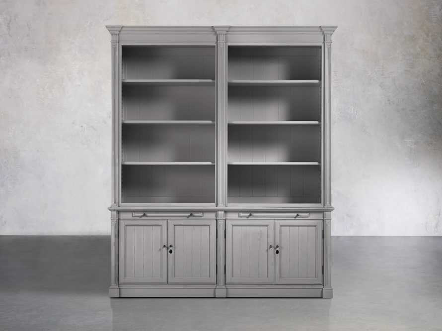 Athens Modular Double Bookcase in Stratus, slide 1 of 2