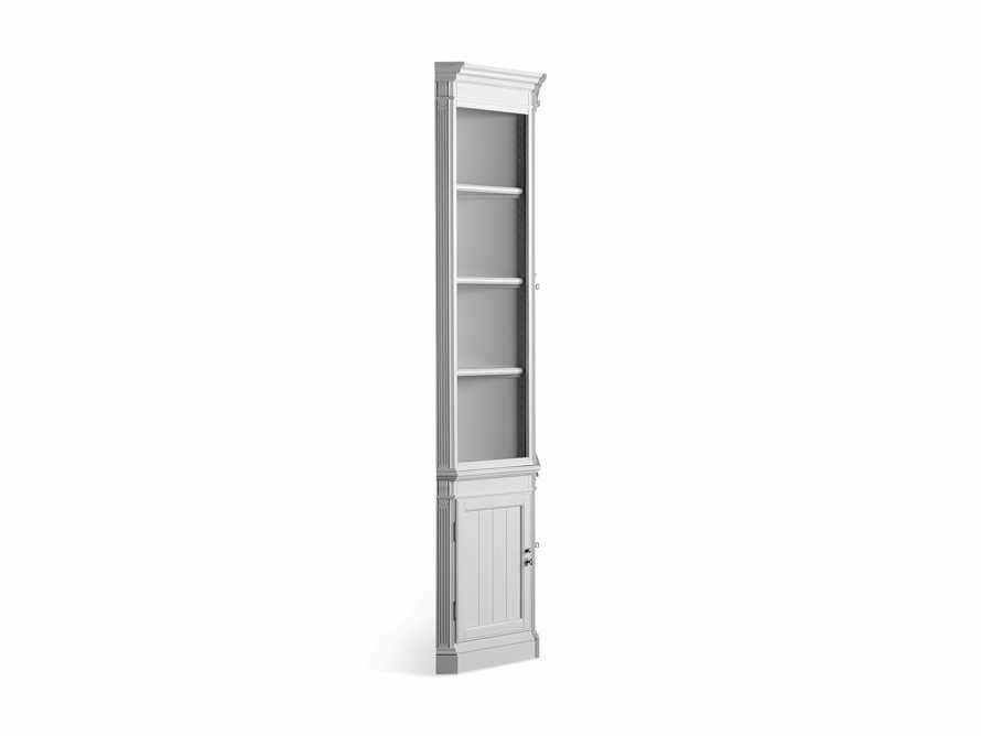 Athens Modular Double Display Cabinet with Angled Bookcases in Nimbus, slide 11 of 11