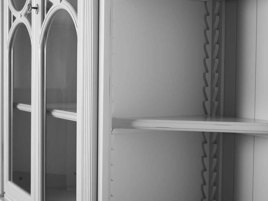 Athens Modular Double Display Cabinet with Angled Bookcases in Nimbus, slide 8 of 11
