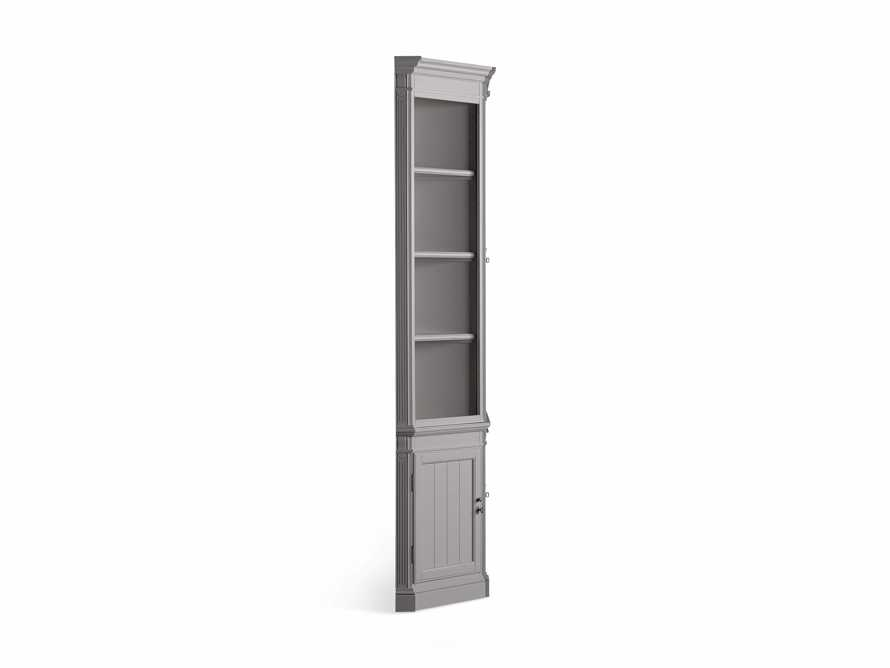 Athens Modular Double Display Cabinet with Angled Bookcases in Stratus, slide 10 of 10